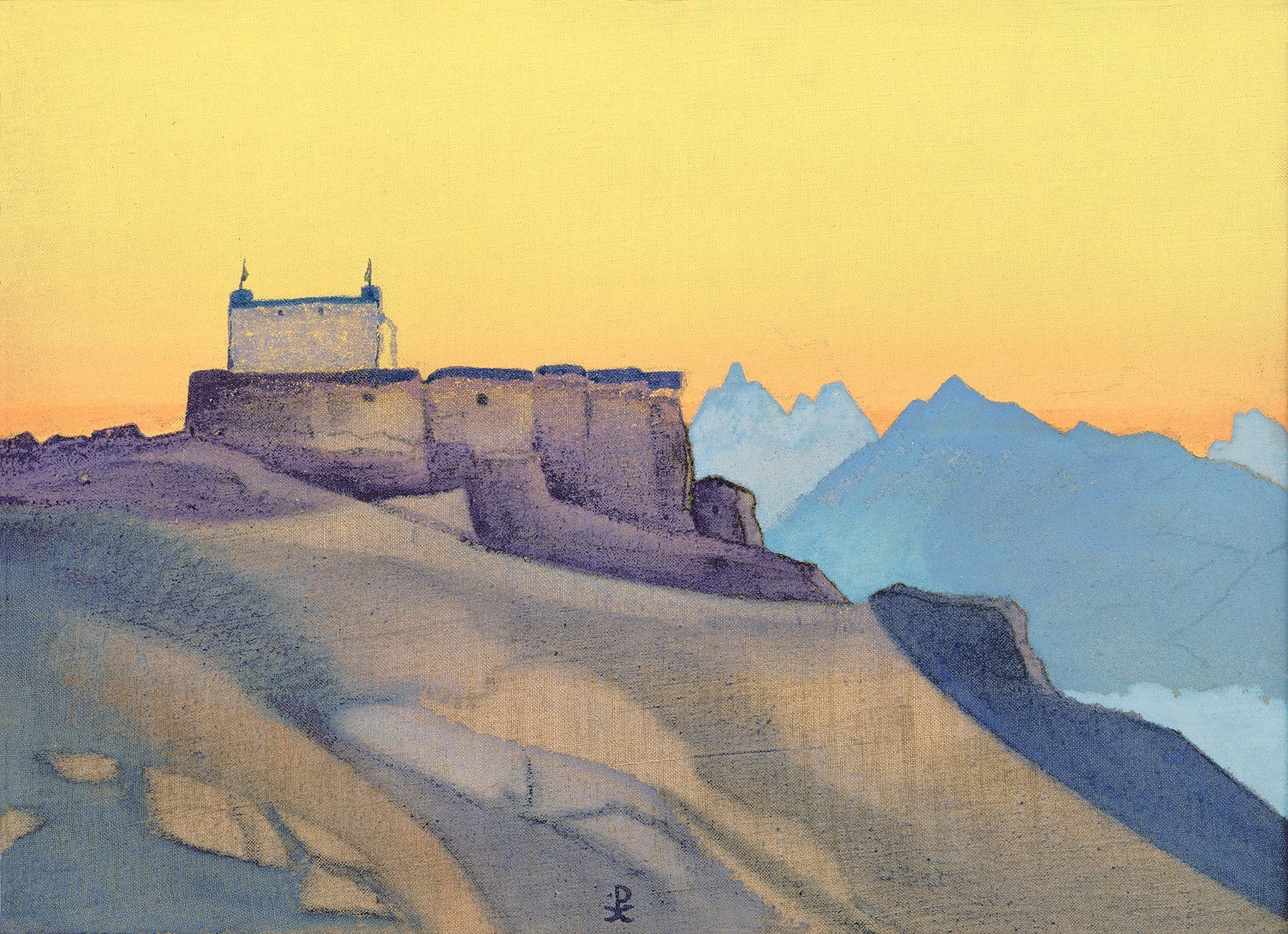 Roerich Painting at Snow Leopard Camp